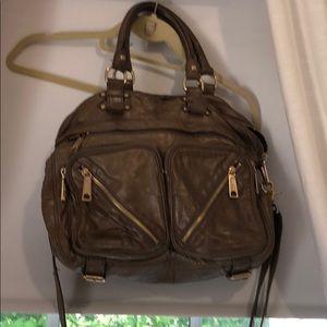 Rebecca Minkoff grey leather bag